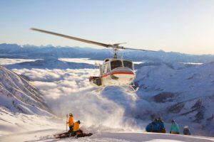 Heli-ski helikopter first track offpiste skiløb
